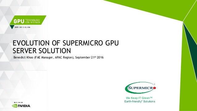 Evolution of Supermicro GPU Server Solution