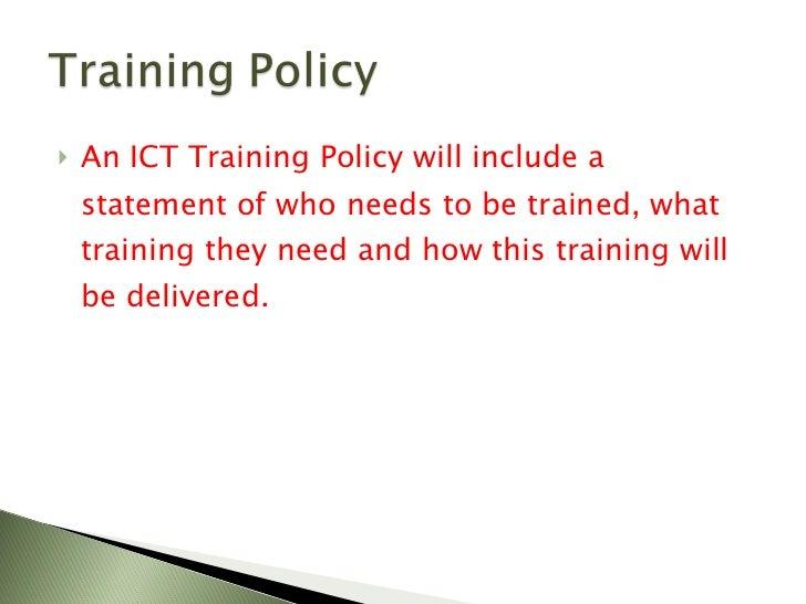 3.5 ICT Policies