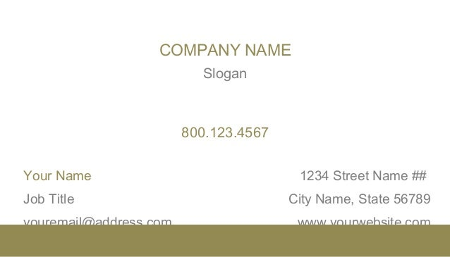 X Horizontal Business Card Template In MS Word Style - 2 x 35 business card template