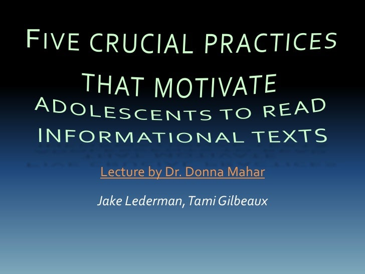 Lecture by Dr. Donna MaharJake Lederman, Tami Gilbeaux