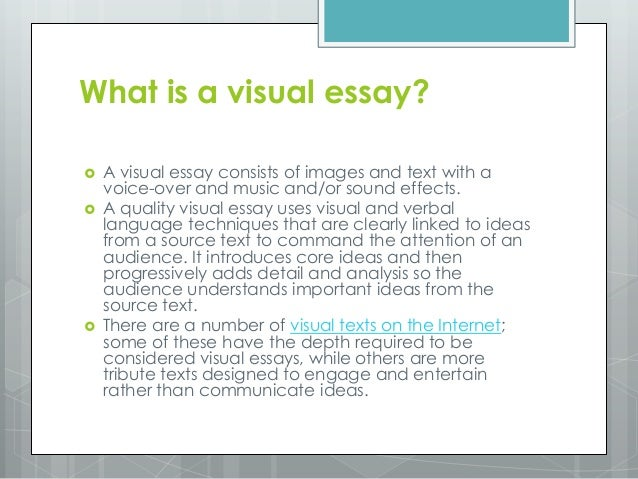 visual essay examples
