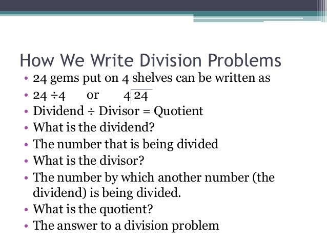 different ways to do division problems