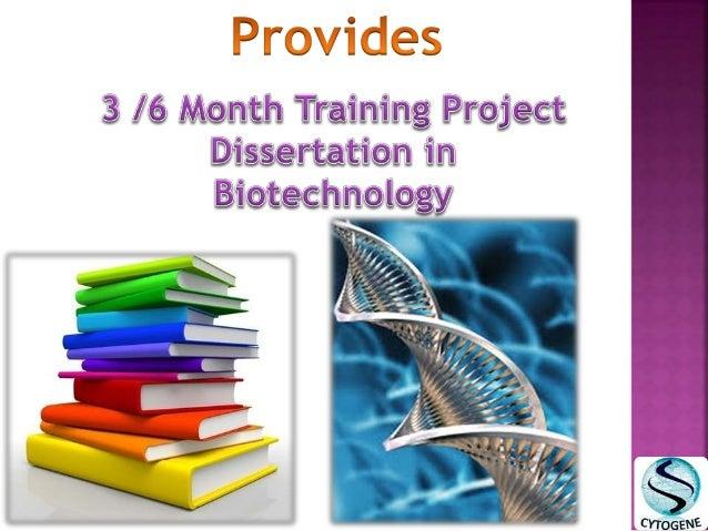 Dissertation projects biotechnology writing a dissertation kolkata