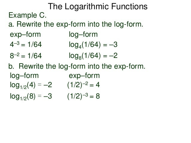 4.4the logarithm functions
