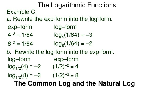 Rewriting e^3=y as a logarithmic equation?