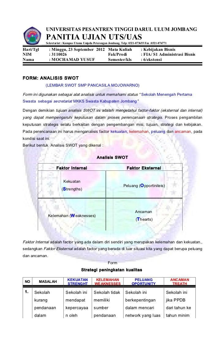 3 8 Form 8 Analisis Swot Copy