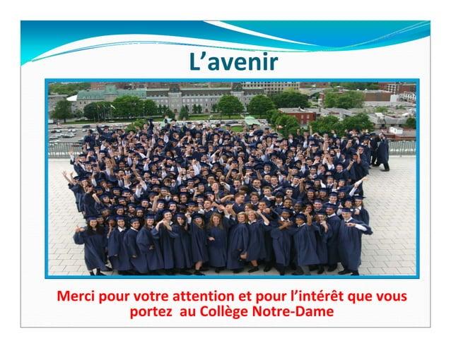 Collège Notre Dame - Présentation du promoteur