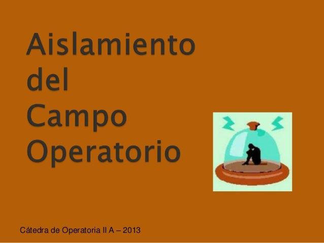 Cátedra de Operatoria II A – 2013