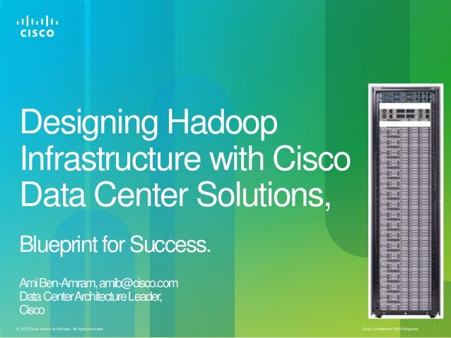 Cisco Confidential NDA Required. 1© 2013 Cisco and/or its affiliates. All rights reserved.Designing HadoopInfrastructure w...