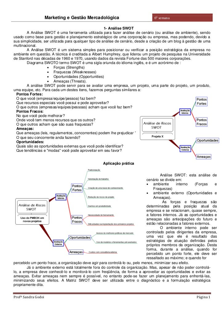Marketing e Gestão Mercadológica                              6ª semana                                                   ...