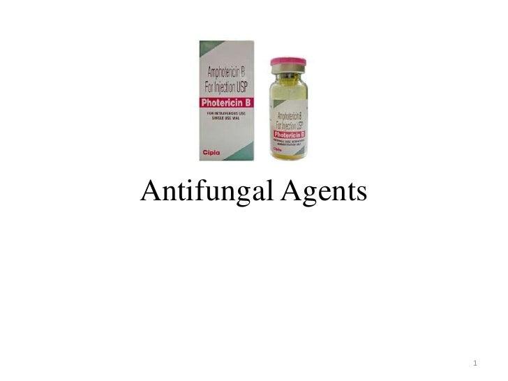 Antifungal Agents                    1