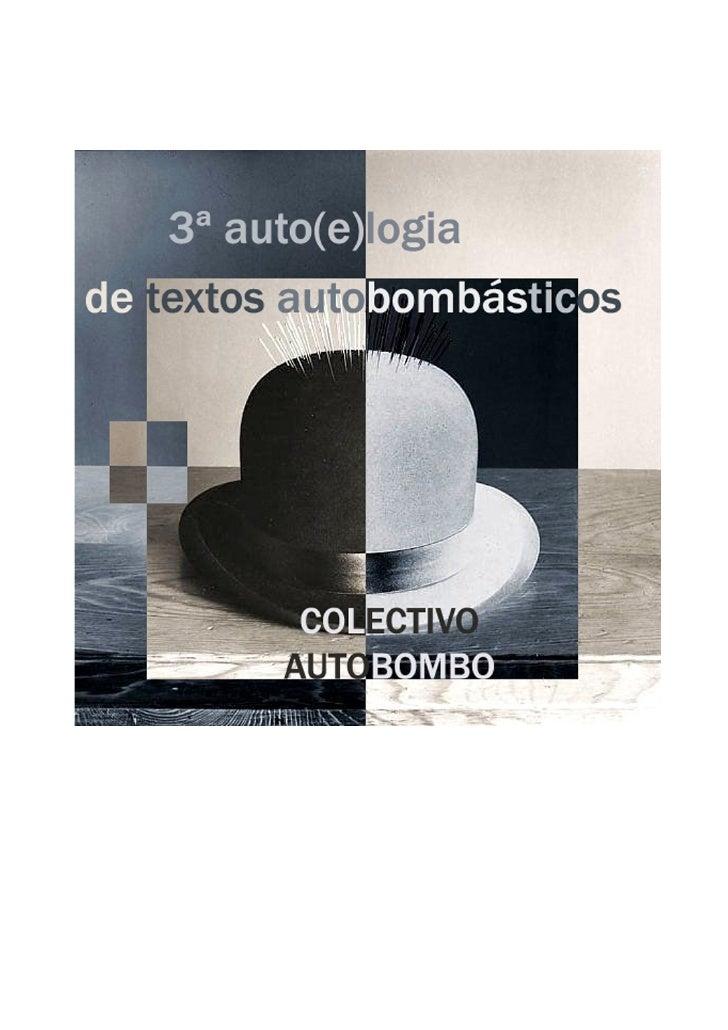 1ª edición: julio 2008 2º edición (digital), Marzo 2009 ©De esta edición, Colectivo Autobombo, Julio 2008 © edición digita...