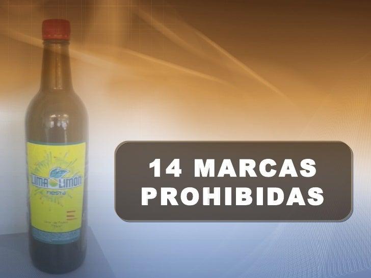 14 MARCAS PROHIBIDAS