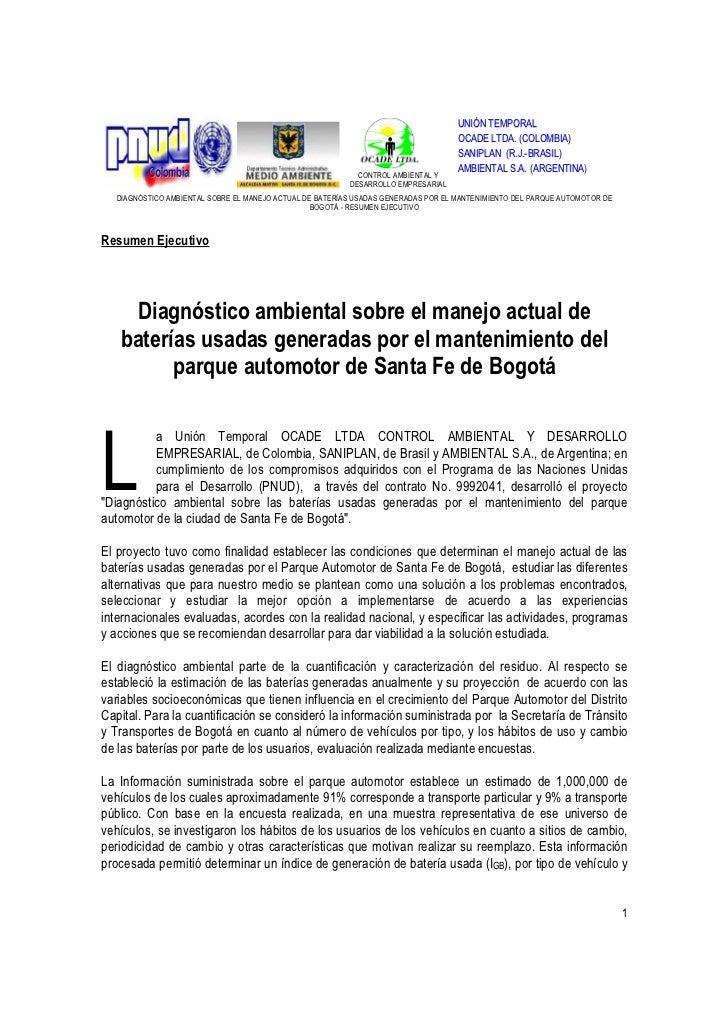 UNIÓN TEMPORAL                                                                                   OCADE LTDA. (COLOMBIA)   ...