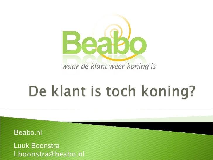 Beabo.nl Luuk Boonstra [email_address]