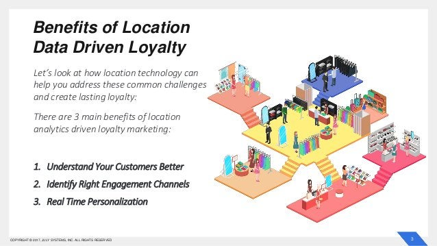 3COPYRIGHT © 2017, JULY SYSTEMS, INC. ALL RIGHTS RESERVED Benefits of Location Data Driven Loyalty Let's look at how locat...