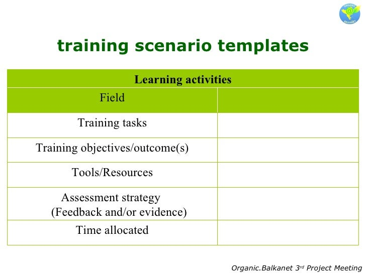 3.Training Scenarios