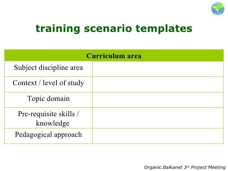 3.Training Scenarios