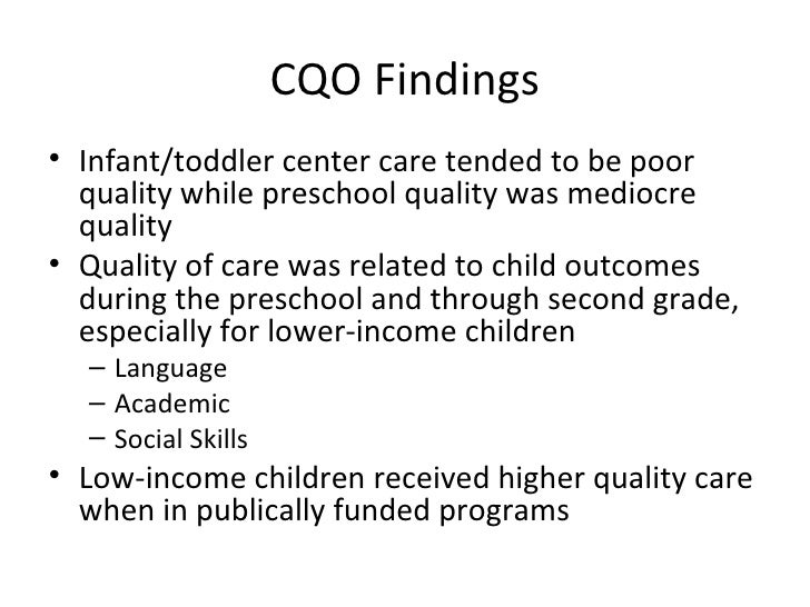 effects of early childhood Child care – early childhood education and meta-analyses now establish that effects of early com/child-care-early-childhood-education-and-care.