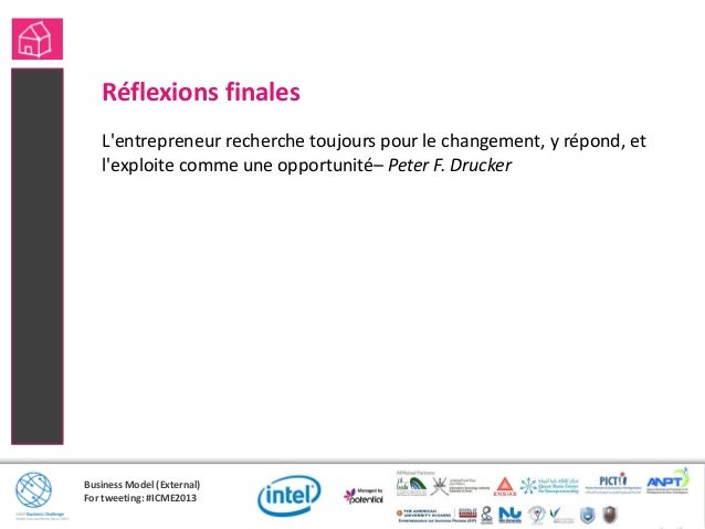 Business Model (External)For tweeting: #ICME2013Résumé des sessions précédentes en vidéos découpésAllez à http://potential...