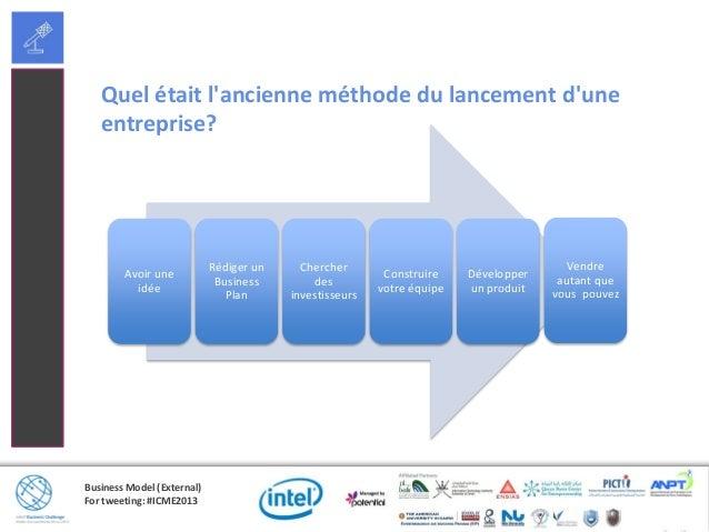 Business Model (External)For tweeting: #ICME2013Quel était lancienne méthode du lancement duneentreprise?Avoir uneidéeRédi...