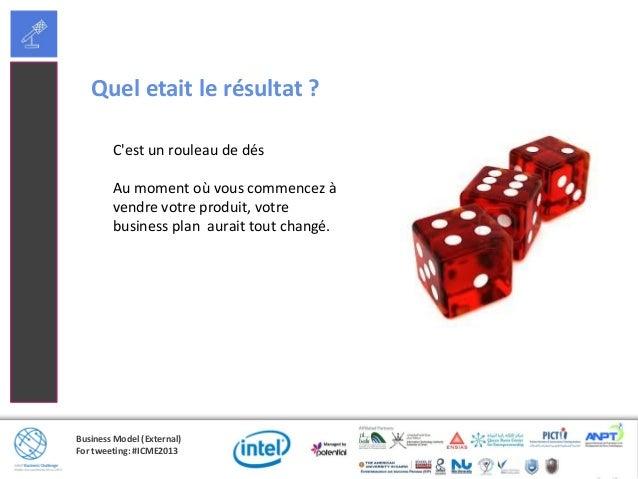 Business Model (External)For tweeting: #ICME2013Quel etait le résultat ?Cest un rouleau de désAu moment où vous commencez ...
