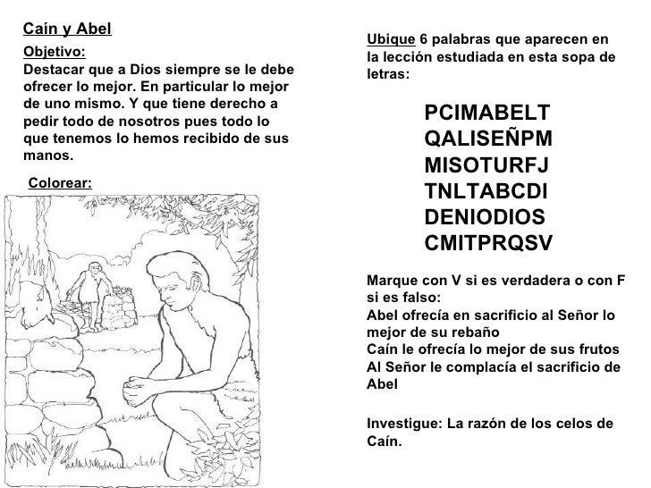 Asombroso Biblia Colorear Páginas Cain Y Abel Imágenes - Páginas ...