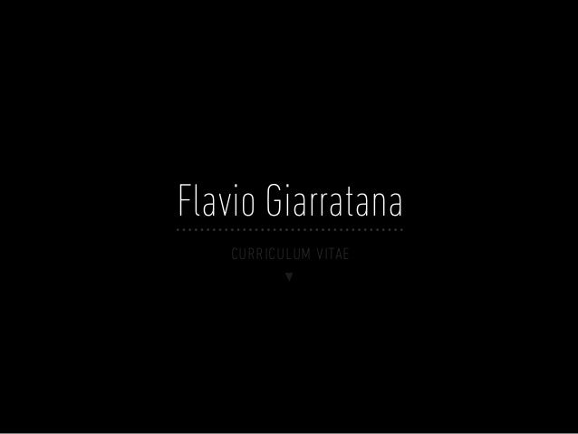 Flavio Giarratana    curriculum vitae