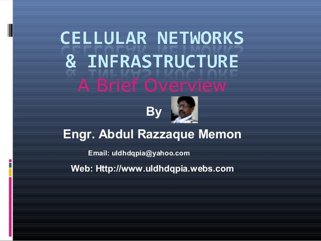 A Brief Overview By Engr. Abdul Razzaque Memon Email: uldhdqpia@yahoo.com  Web: Http://www.uldhdqpia.webs.com