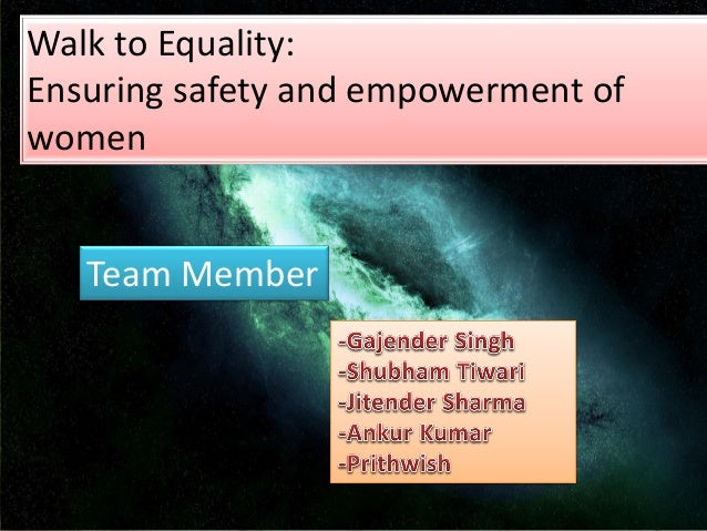 Walk to Equality: Ensuring safety and empowerment of women Team Member