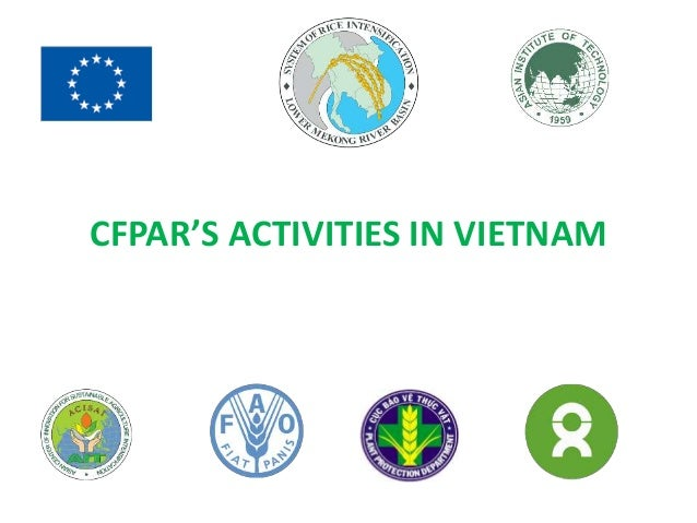 CFPAR'S ACTIVITIES IN VIETNAM