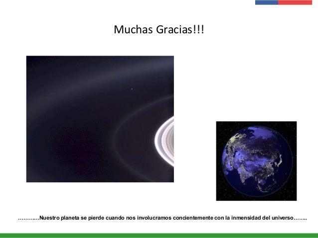 Muchas Gracias!!! …………Nuestro planeta se pierde cuando nos involucramos concientemente con la inmensidad del universo……..