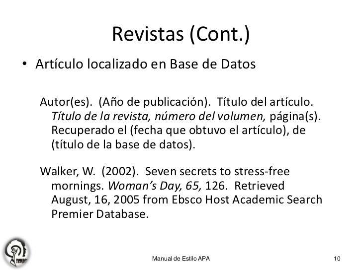 Apa 3 Citas Y Referencias Bibliográficas
