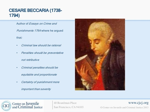 Doc cesare beccaria research paper