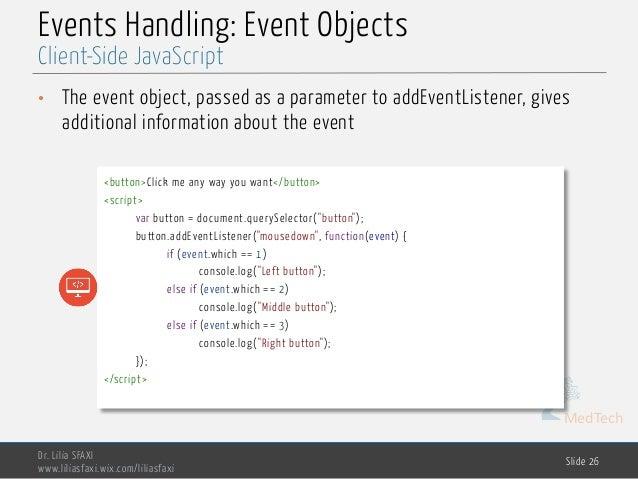 Client-side JavaScript