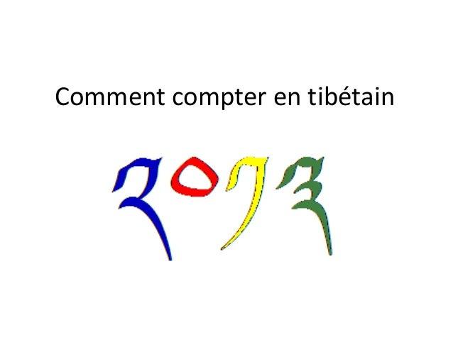 Comment compter en tibétain