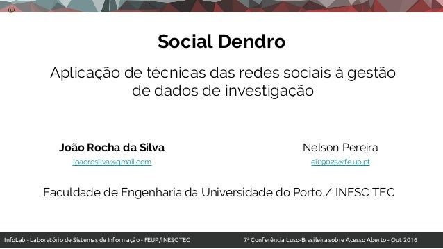 InfoLab - Laboratório de Sistemas de Informação - FEUP/INESC TEC 7ª Conferência Luso-Brasileira sobre Acesso Aberto - Out ...
