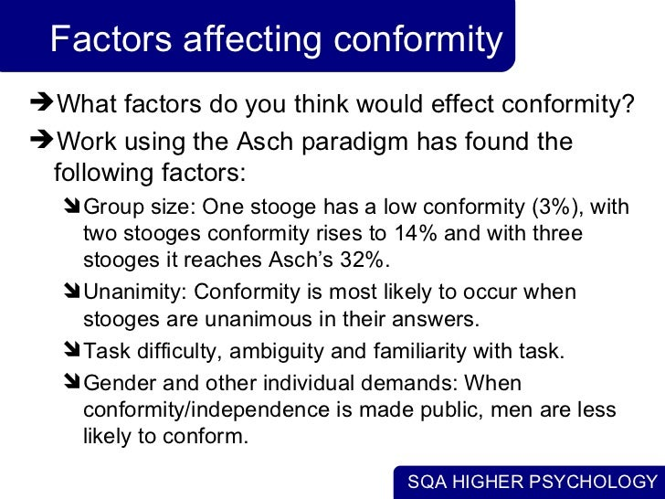 factors influencing conformity and obedience essay Factors that influence obedience and conformity (video) factors discuss influencing ap psychology communityib psych noteswhat is conformity discuss review.