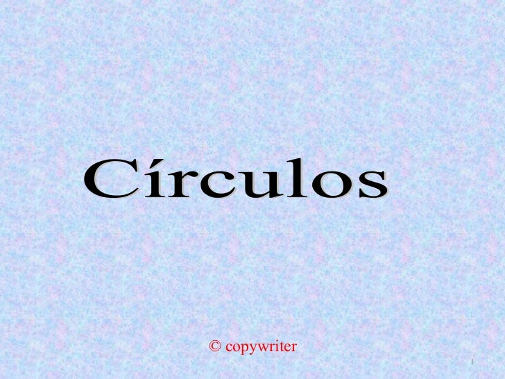 © copywriter Círculos