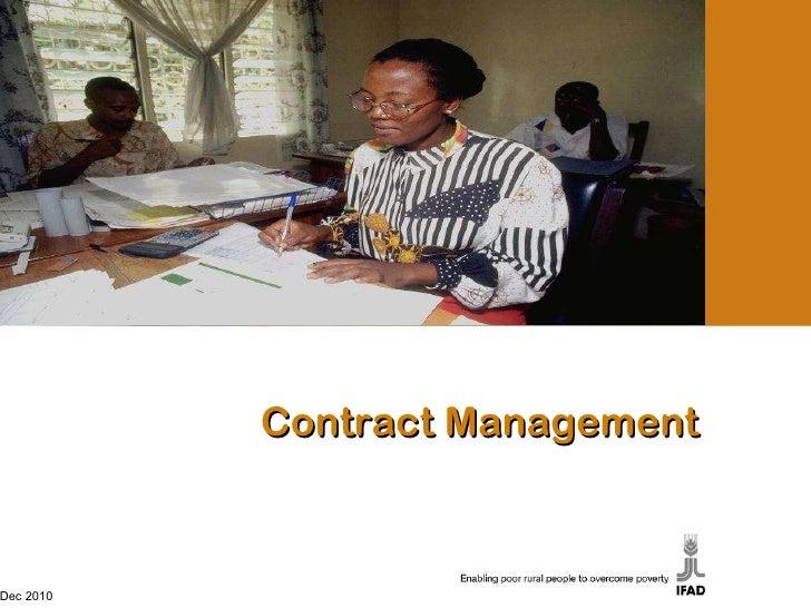Contract Management Dec 2010 Dec 2010