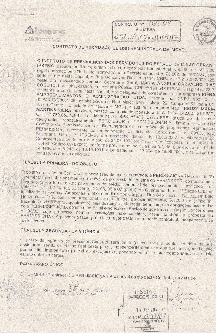 Contrato de permissão de uso remunerada de imóvel