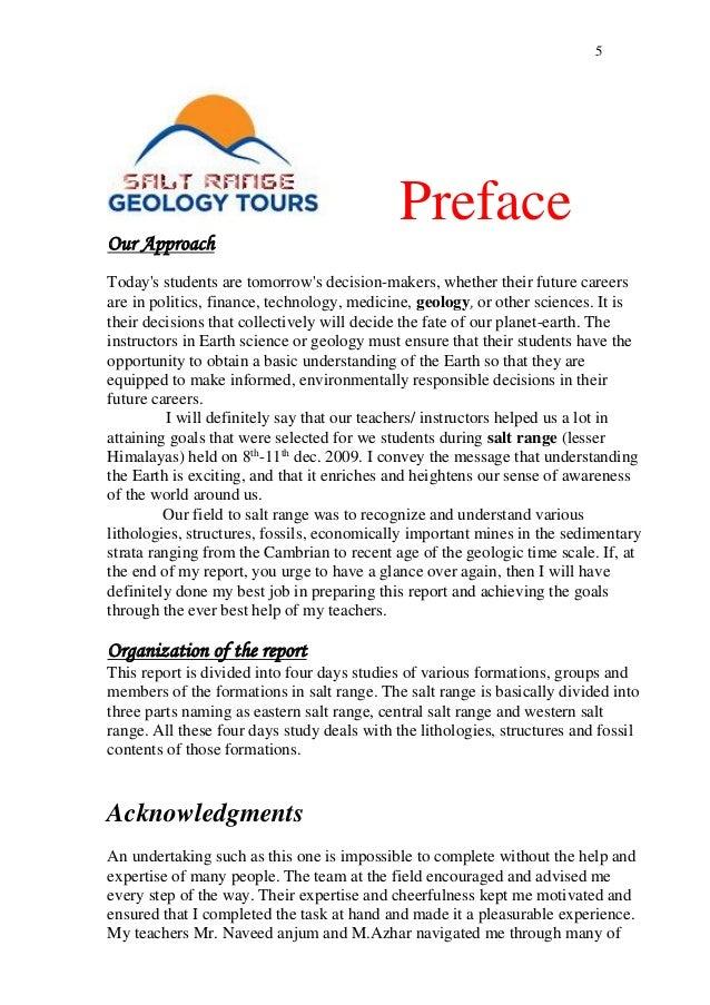 Geology essay