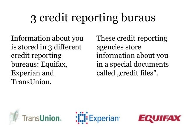 3 Credit Reporting Agencies >> How To Get All 3 Credit Scores Pdf Presentation
