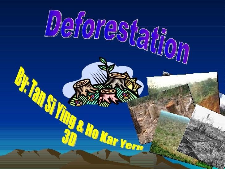 Deforestation By: Tan Si Ying & Ho Kar Yern 3D