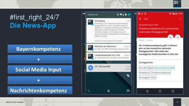 SEITE 8BR24 © Vichtl / Daubner #first_right_24/7 Die News-App Bayernkompetenz + Social Media Input + Nachrichtenkompetenz
