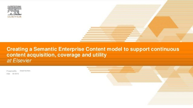 | Presented By Date David Kuilman 09-08-16 Creating a Semantic Enterprise Content model to support continuous content acqu...