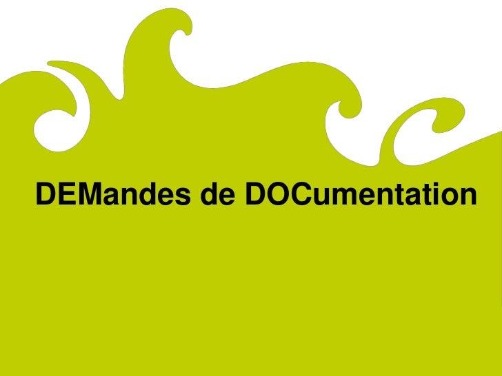 ComitéRégionaldu Tourismede Lorraine     DEMandes de DOCumentation