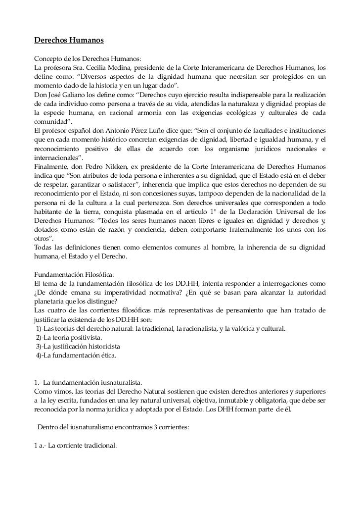 Derechos HumanosConcepto de los Derechos Humanos:La profesora Sra. Cecilia Medina, presidente de la Corte Interamericana d...