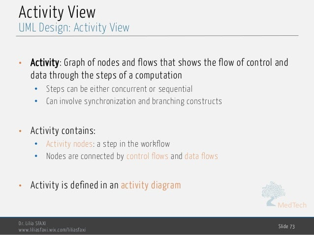 MedTech Activity View • Activity: Graph of nodes and flows that shows the flow of control and data through the steps of a ...