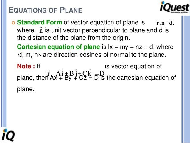 3 d geometry Unit Normal Vector to Plane A Normal Line of Vector